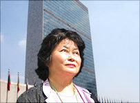 Yi-yu Woo's paintings on exhibit at the United Nations
